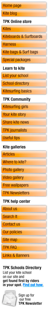 tropical paradise kitesurfing menu july 2009