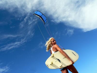 kiteboarding wallpapers. Kitesurfing girl Mika. Where are you from? The cold and windy Holland